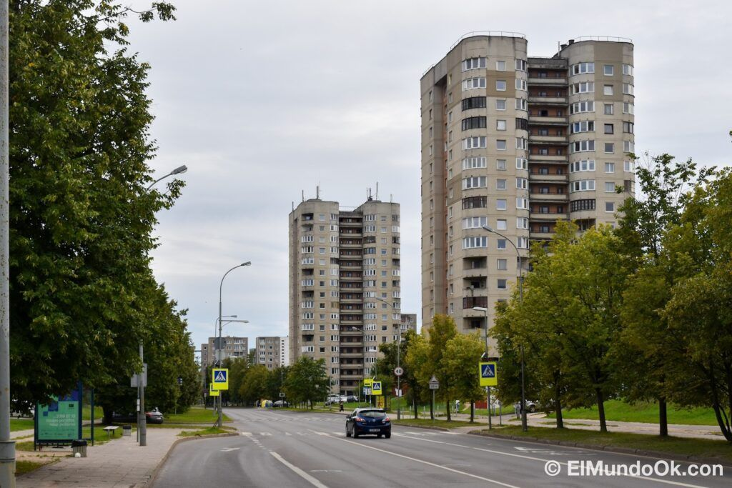 The Fabijoniskes neighborhood, the supposed city of Pripyat in the HBO series, Chernobyl locations in Vilnius. Lithuania.