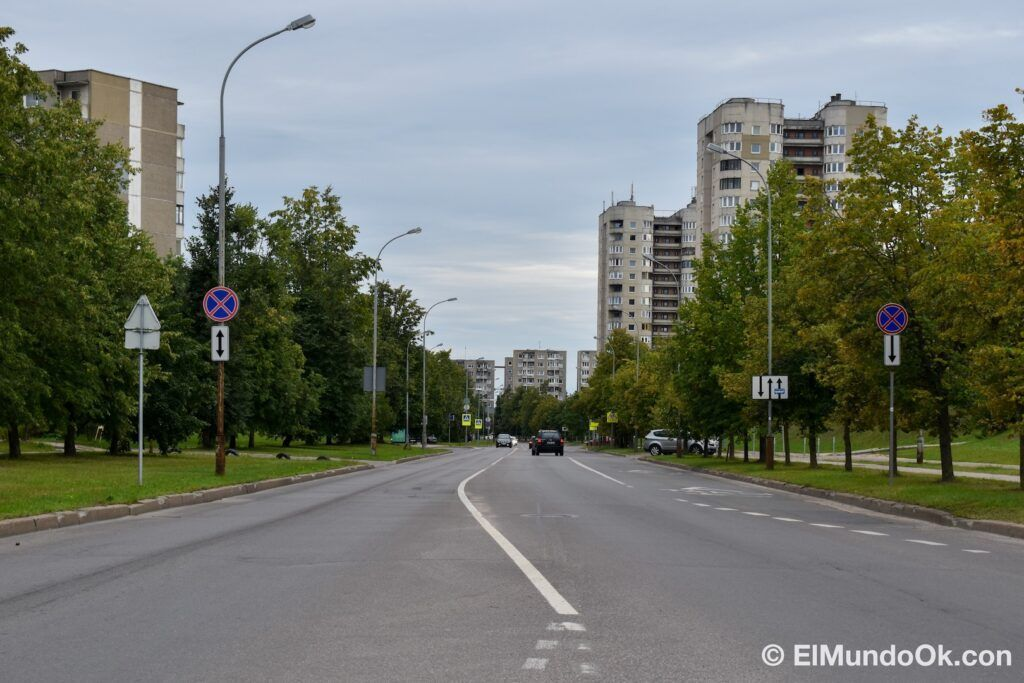 The neighborhood of Fabijoniskes, the supposed city of Pripyat in the HBO series, location of Chernobyl in Vilnius.