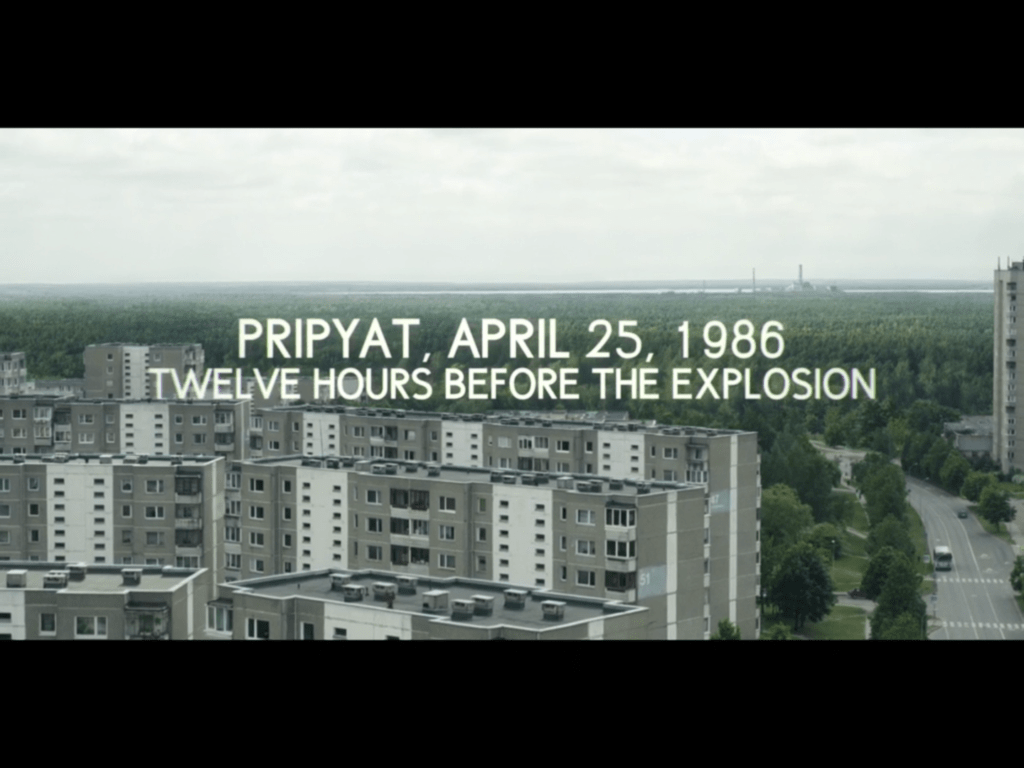 Fabijoniskes neighborhood, the supposed city of Pripyat in the HBO series, Chernobyl location in Vilnius, capital of Lithuania. Credit: HBO
