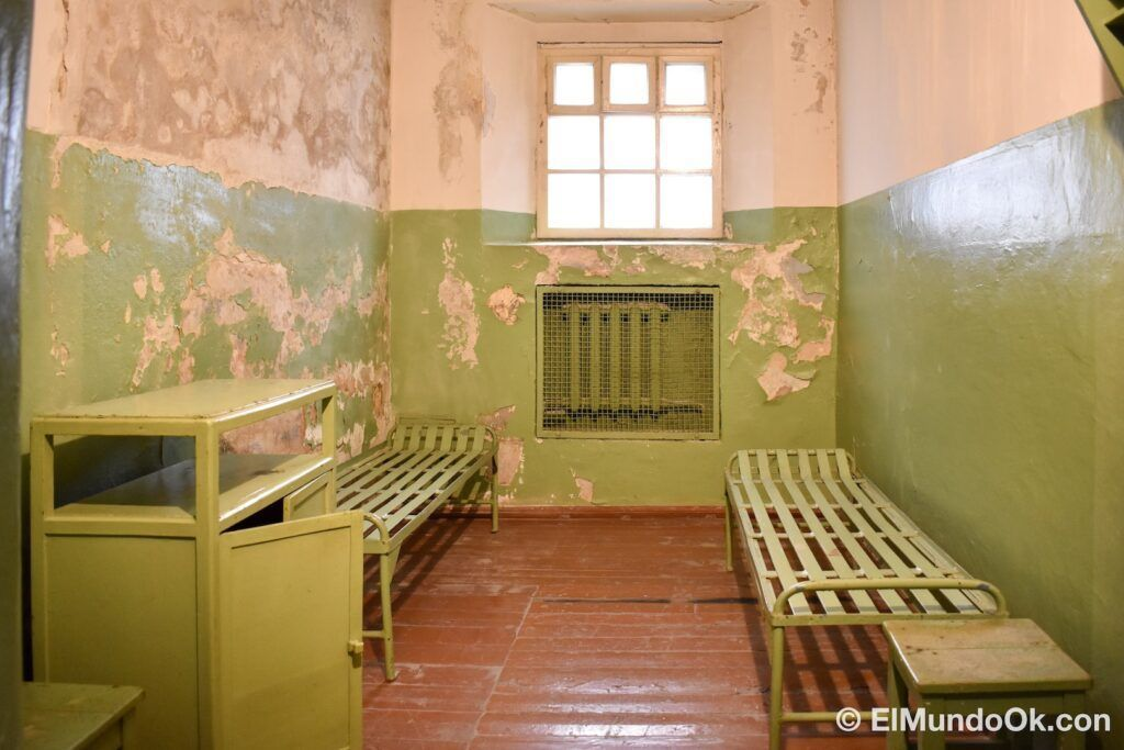 Museum of Occupations and Freedom Fights, the former KGB prison in Vilnius, Lithuania.