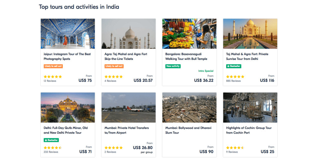 India 2019 - Top 10 Tours, Trips Activities. Things to Do in India via GetYourGuide.