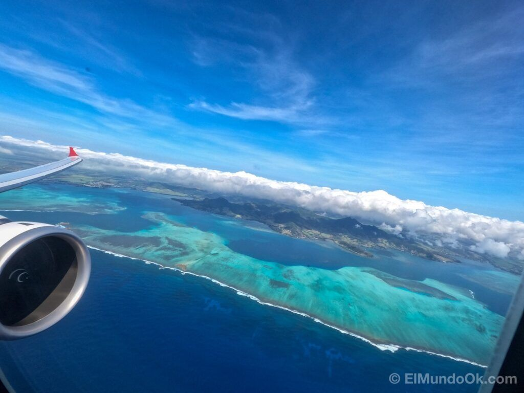 Views from the Air Mauritius Airbus 330neo.